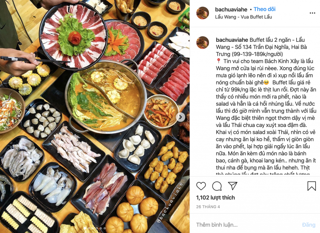 Tín đồ ẩm thực hào hứng với Menu món mới Lẩu Wang