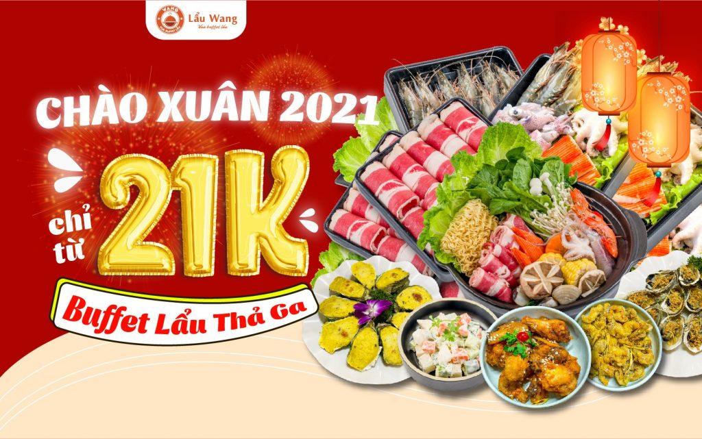 Ưu đãi tháng 1 - Buffet lẩu chỉ từ 21K tại Lẩu Wang