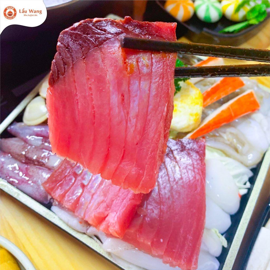 Cá ngừ đại dương - Món mới ra mắt siêu hot tại Lẩu Wang