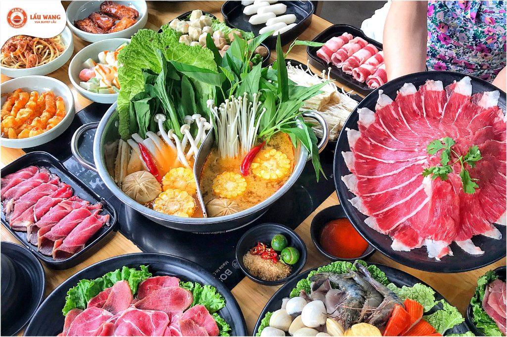 Thực đơn Lẩu Wang thu hút thực khách bởi sự phong phú, tươi ngon và công thức chế biến độc quyền