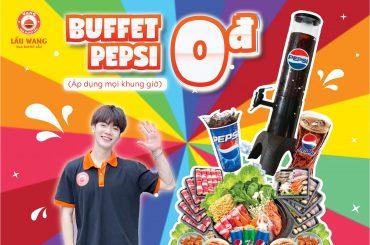 Lẩu Wang tặng Free Buffet Pepsi cho cuộc vui bất tận